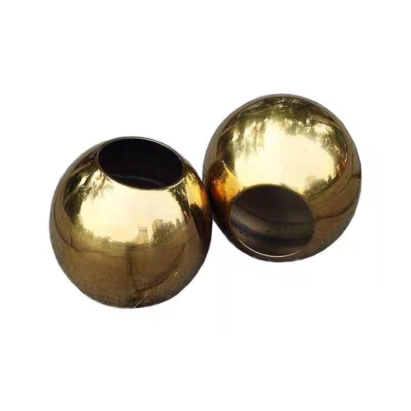 Golden Drilled Hole Sphere, Stainless Steel Hollow Sphere/Ball, interior/exterior decoration, indoor/ outdoor decoration, design