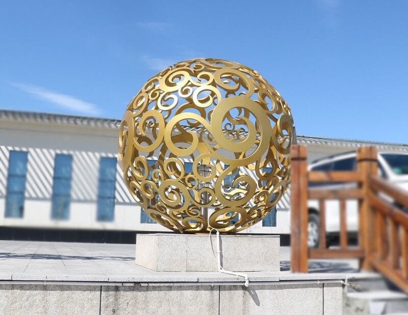 Stainless Steel sphere sculpture, Stainless Steel ball, outdoor decoration, design
