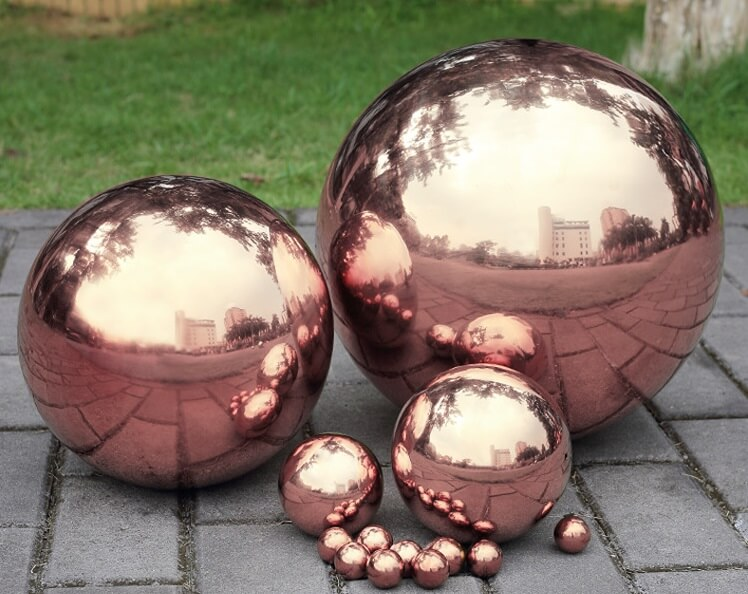 Stainless Steel Hollow Sphere, Color Stainless Steel Ball, interior/exterior decoration, indoor/ outdoor decoration, design