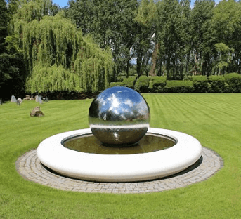stainless steel floating ball, water feature, decoration