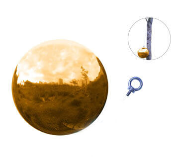 golden-stainless-steel-sphere-with-hanging-hook
