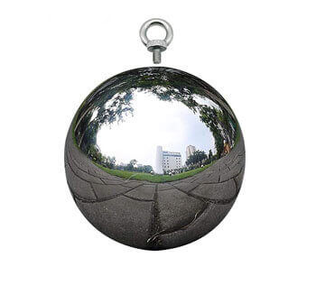 stainless steel sphere with hanging hook