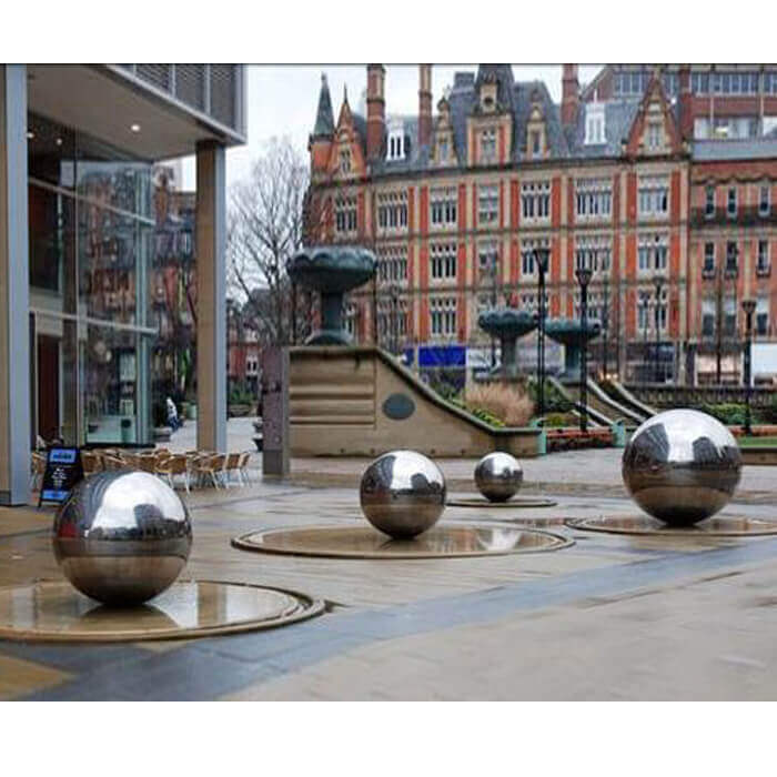 Stainless Steel Ball, Hemisphere, Sculpture can serve in multiple places with various function. With its mirror polishing finished, stainless steel sphere is an important ornamental element in garden and can reflect its surroundings beautifully. Stainless steel ball as water feature can be an attractive spot where makes a good mood for all visitors. It is sure to ba a focal point in your landscape, potio, garden etc. For construction, stainless steel sculpture is a vital element in today's contemporary architecture and artistic design.