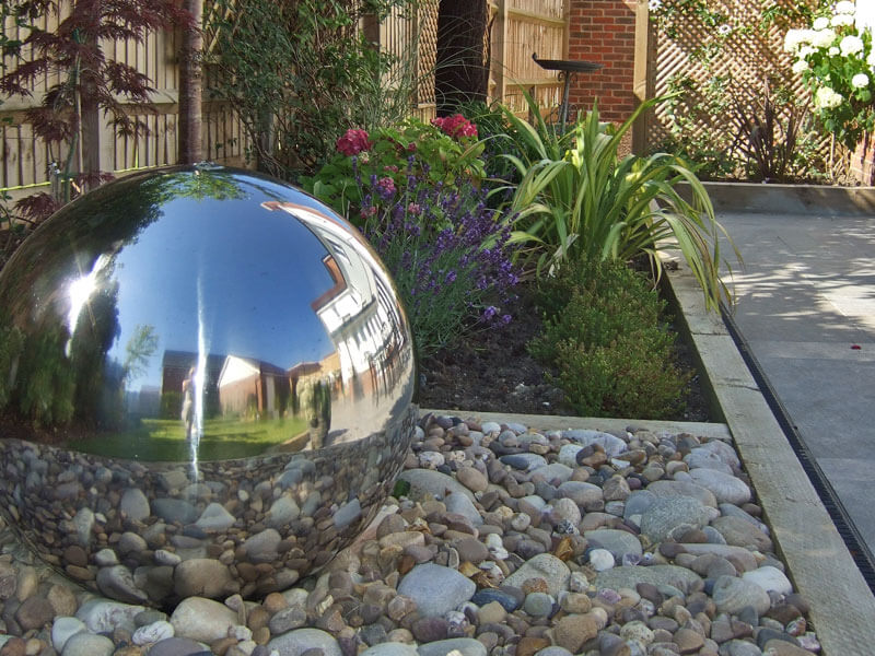 stainless steel ball water fountain